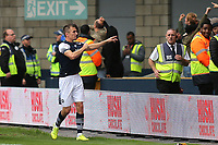 Jed Wallace celebrates scoring Millwall's opening goal from the penalty spot during Millwall vs Leeds United, Sky Bet EFL Championship Football at The Den on 5th October 2019