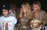 Elton John, Alana Stewart and Rod Stewart 1978<br />