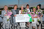 LADIES NIGHT: The Finalists and judges of the Lee Strand Best Dressed Lady Competition at the Lee Strand evening of racing at the Kingdom Greyhound Stadium on Friday night l-r: Mary O'Halloran, Noreen McManus, Gillian Kelleher (Winner), Kate Hartigan, Eilish Stack and Liz Horgan..   Copyright Kerry's Eye 2008