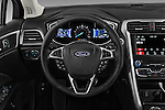 Car pictures of steering wheel view of a 2017 Ford Fusion-Hybrid Hybrid-SE 4 Door Sedan Steering Wheel