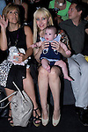 03.09.2012. Celebrities attending the Carlos Diez and Maria Escote fashion show during the Mercedes-Benz Fashion Week Madrid Spring/Summer 2013 at Ifema. In the image Geraldine Larrosa (Innocence) and her daughter Scarlett.  (Alterphotos/Marta Gonzalez)