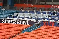 Super Bowl XLIV im Sun Life Stadium von Miami - Medienpl&auml;tze<br /> Super Bowl XLIV Media Day, Sun Life Stadium *** Local Caption *** Foto ist honorarpflichtig! zzgl. gesetzl. MwSt. Auf Anfrage in hoeherer Qualitaet/Aufloesung. Belegexemplar an: Marc Schueler, Alte Weinstrasse 1, 61352 Bad Homburg, Tel. +49 (0) 151 11 65 49 88, www.gameday-mediaservices.de. Email: marc.schueler@gameday-mediaservices.de, Bankverbindung: Volksbank Bergstrasse, Kto.: 52137306, BLZ: 50890000