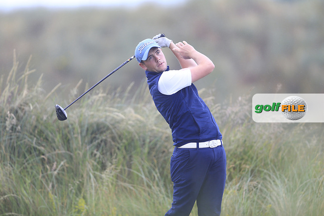 Robert Brazill (Naas) during the semi final of the  North of Ireland Amateur Championship, Portstewart Golf Club, Portstewart, Antrim,  Ireland. 12/07/2019<br /> Picture: Golffile   Fran Caffrey<br /> <br /> <br /> All photo usage must carry mandatory copyright credit (© Golffile   Fran Caffrey)
