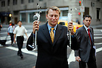 NEW YORK - MAY 24, 2007: Thierry Thaure, CEO of EGS, poses with two surgical devices his company makes-- the one on the left for fundoplication, the other for obesity--  on May 24, 2007 outside of the W Hotel in Midtown Manhattan. Venture Capitalists are now investing in health device companies.   (Photo by Michael Nagle)