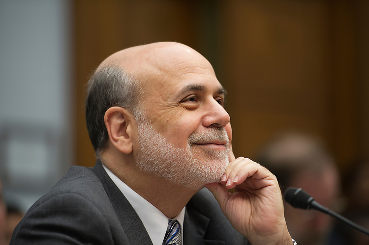 UNITED STATES -July 17: Federal Reserve Chairman Ben Bernanke at what is most likely his last Capitol Hill appearance during the House Financial Services Committee hearing on the monetary policy and the state of the economy on July 17, 2013. (Photo By Douglas Graham/CQ Roll Call)