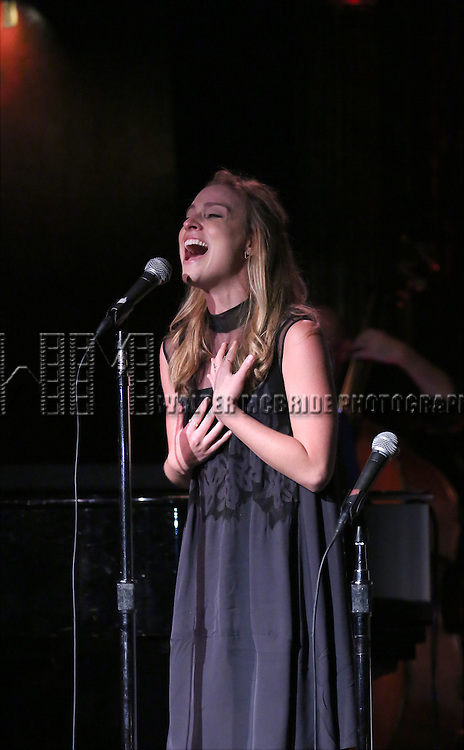 Christy Altomare performing at The Lilly Awards Broadway Cabaret at the Cutting Room on October 17, 2016 in New York City.