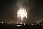Fireworks Over the Ocean in Aptos Ca.