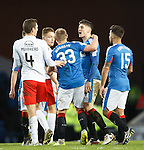Rob Kiernan squares up to Aaron Muirhead after the match