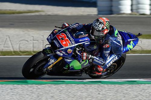11th November 2017, Gran Premio Motul de la Comunitat Valenciana, Valencia, Spain; MotoGP of Valencia, Saturday qualifying; Maverick Vinales (Movistar Yamaha) during the qualifying sessions