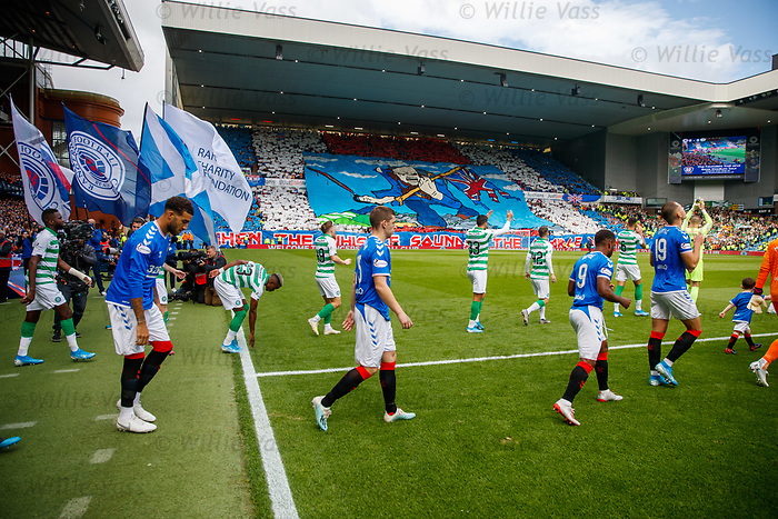 01.09.2019 Rangers v Celtic: Rangers and Celtic take to the pitch