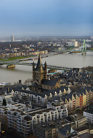 Rhine River Panorama From Cologne Cathedral, Germany
