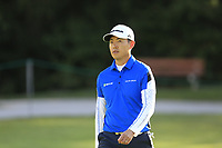 Daniel Im (USA) on the 17th hole during Thursday's Round 1 of the 2017 Omega European Masters held at Golf Club Crans-Sur-Sierre, Crans Montana, Switzerland. 7th September 2017.<br /> Picture: Eoin Clarke | Golffile<br /> <br /> <br /> All photos usage must carry mandatory copyright credit (&copy; Golffile | Eoin Clarke)