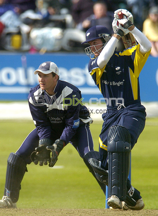 Picture by Chris Whiteoak/SWPIX.COM, C and G Trophy, Yorkshire v Scotland, 29/05/06..Copyright>>Simon Wilkinson>>07811267706..Yorkshire's Michael Vaughan scores another 4