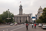 The Hankou (Hankow) Custom House, Facing Down The Bund. Built In 1923. Former NKK Shipping Office To The Right.