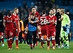 Liverpool's Trent Alexander-Arnold celebrates at the final whistle during the Champions League Quarter Final 2nd Leg match at the Etihad Stadium, Manchester. Picture date: 10th April 2018. Picture credit should read: David Klein/Sportimage