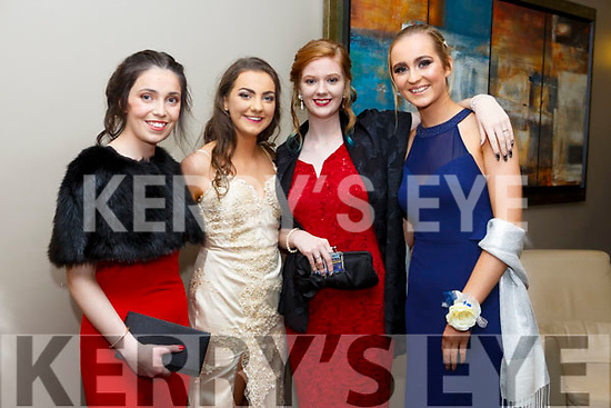 Enjoying the Castleisland Debs at Ballyroe Hotel on Friday were Colette O'Shea, Katie Horan, Aine Carey and Katie Cooke