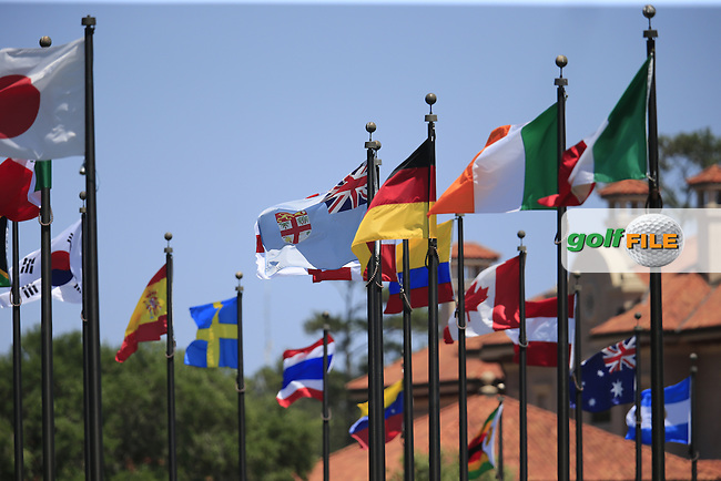 Flags flight high during round 3 of the Players, TPC Sawgrass, Championship Way, Ponte Vedra Beach, FL 32082, USA. 13/05/2016.<br /> Picture: Golffile | Fran Caffrey<br /> <br /> <br /> All photo usage must carry mandatory copyright credit (&copy; Golffile | Fran Caffrey)