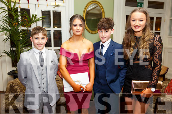 North Kerry Harriers Hunt Ball: Attending  the North Kerry Hunt Ball at the Listowel Arms Hotel on Saturday night last were Denis O'Connor,   Sarah McNamra, Tim O'Connor & Ciara Hennessy.