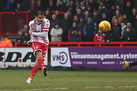 John Goddard of Stevenage goes close during Stevenage vs Luton Town, Sky Bet EFL League 2 Football at the Lamex Stadium on 10th February 2018