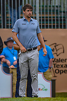Ollie Schniederjans (USA) looks over his tee shot on 1 during day 3 of the Valero Texas Open, at the TPC San Antonio Oaks Course, San Antonio, Texas, USA. 4/6/2019.<br /> Picture: Golffile | Ken Murray<br /> <br /> <br /> All photo usage must carry mandatory copyright credit (&copy; Golffile | Ken Murray)