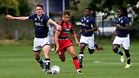 Olly Dyson of Huddersfield Town bursts through the Millwall defence during Millwall Under-23 vs Huddersfield Town Under-23, Professional Development League Football at Millwall Training Ground on 14th August 2017
