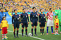 (L to R) <br /> Toshiyuki Nagi, <br /> Hassan Kamranifar, <br /> Yuichi Nishimura (Referee), <br /> Toru Sagara, <br /> JUNE 12, 2014 - Football /Soccer : <br /> 2014 FIFA World Cup Brazil <br /> Group Match -Group A- <br /> between Brazil 3-1 Croatia <br /> at Arena de Sao Paulo, Sao Paulo, Brazil. <br /> (Photo by YUTAKA/AFLO SPORT)