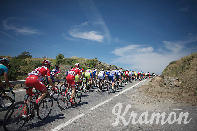 peloton rolling on<br /> <br /> Tour of Turkey 2014<br /> stage 7