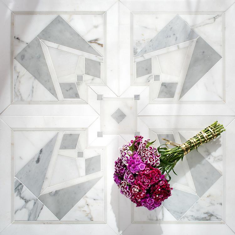 Jardin de villandry stone mosaic new ravenna for Jardin francais