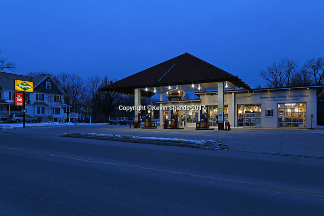 Gas station in Bennington, Vermont, USA