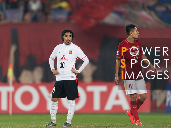 Match Day 3 Guangzhou Evergrande (CHN) VS Urawa Red Diamonds (JPN) during the AFC Champions League 2016 16 March 2016 in Guangzhou Tianhe Sport Centre, Photo by Ike Li / Power Sport Images