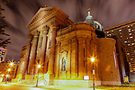 The Cathedral Basilica of Saints Peter and Paul is seen at night in Philadelphia, Pennsylvania on May 27th 2012. (Photo by Brian Garfinkel)