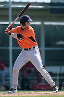 Baltimore Orioles Alexander Lee  (10) during a minor league spring training game against the Boston Red Sox on March 18, 2015 at the Buck O'Neil Complex in Sarasota, Florida.  (Mike Janes/Four Seam Images)