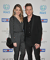Georgia Horsley and Danny Jones at the Football For Peace Initiative Dinner by Global Gift Foundation, Corinthia Hotel, Whitehall Place, London, England, UK, on Monday 08th April 2019.<br /> CAP/CAN<br /> ©CAN/Capital Pictures