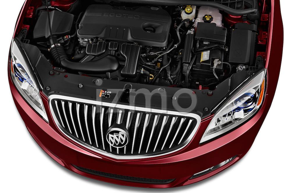 Car Stock 2017 Buick Verano Leather 4 Door Sedan Engine  high angle detail view