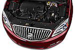 Car Stock 2017 Buick Verano Leather 4 Door Sedan Engine  high angle detail view