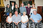 Celebrating their 25th wedding Anniversary with family and friends on Saturday were Pauline O'Shea and Martin O'Shea from Spa Road, Tralee. Pictured l-r Pauline and Martin O'Shea, Patricia O'Shea and Patrick O'Shea. Back l-r  Margo O'Carroll, Robert O'Shea, Jane Tobin, Joe Tobin, Kevin O'Shea and Naomi Murphy