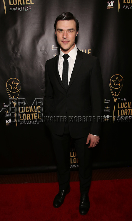 Finn Wittrock attends 32nd Annual Lucille Lortel Awards at NYU Skirball Center on May 7, 2017 in New York City.