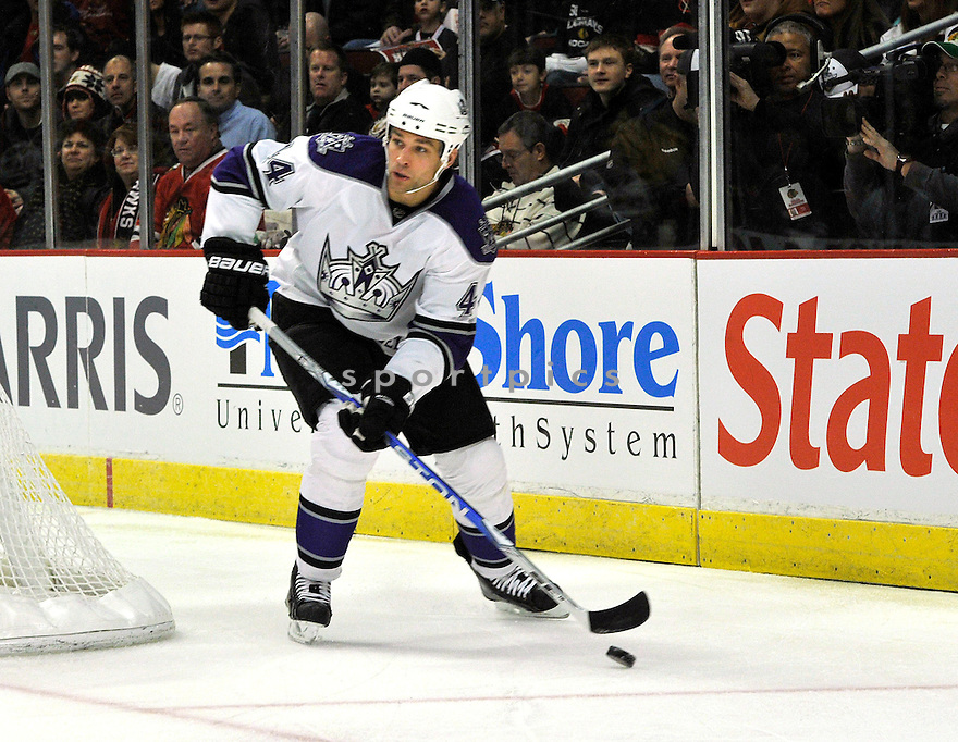 DAVIS DREWISKE,  of the Los Angeles Kings in action  during the Kings game against the Chicago Blackhawks at the United Center in Chicago, IL.  The Chicago Blackhawks beat the Los Angeles Kings 3-2 in Chicago, Illinois on December 19, 2010....