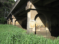 View Under Bridge at Waimea Bay, North Shore, Oahu, Hawaii