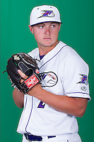 Winston-Salem Dash pitcher J.B. Wendelken (2) poses for photos during Media Day at BB&T Ballpark on April 1, 2014 in Winston-Salem, North Carolina (Brian Westerholt/Four Seam Images)