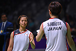Ä/Yuki Fukushima & Ayaka Hirota (JPN), <br /> AUGUST 22, 2018 - Badminton : Women's Team Final match between China 1-3 Japan at Gelora Bung Karno Istora during the 2018 Jakarta Palembang Asian Games in Jakarta, Indonesia. <br /> (Photo by MATSUO.K/AFLO SPORT)