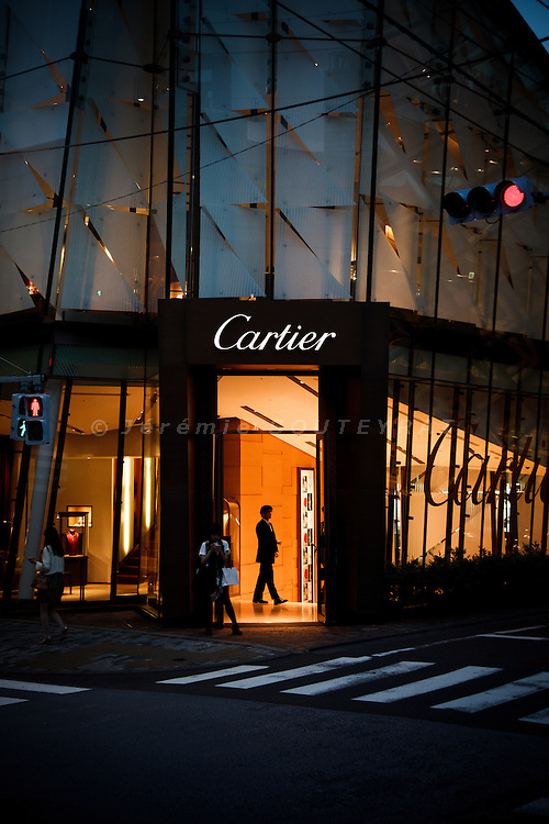 Tokyo, June 7 2012 - Cartier building by French artist Bruno Moinard in the Omotesando area.