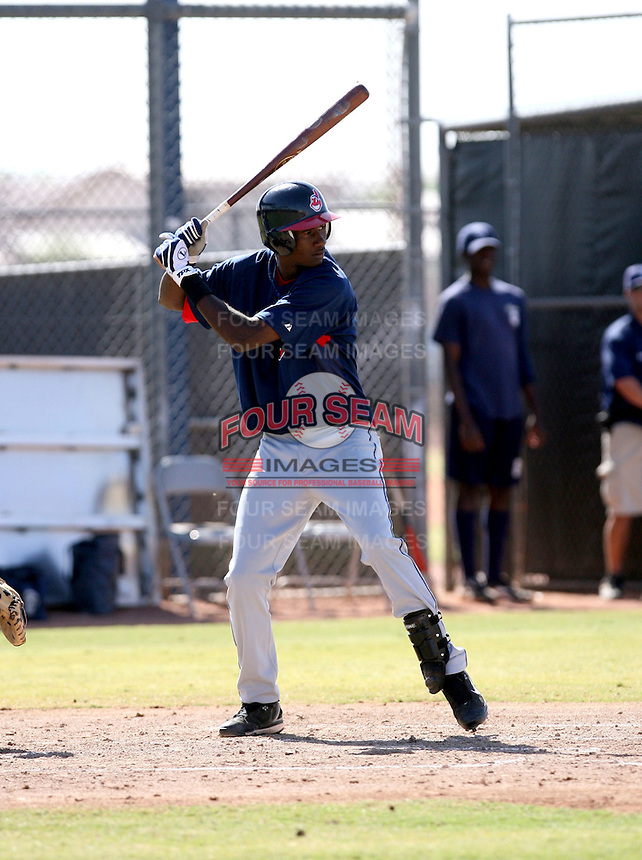 Abner Abreu / Cleveland Indians 2008 Instructional League..Photo by:  Bill Mitchell/Four Seam Images
