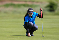 Caley McGinty (ENG) on the 1st green during Round 3 of the Irish Women's Open Stroke Play Championship 2018 on Saturday 13th May 2018.<br /> Picture:  Thos Caffrey / Golffile<br /> <br /> All photo usage must carry mandatory copyright credit (&copy; Golffile | Thos Caffrey)
