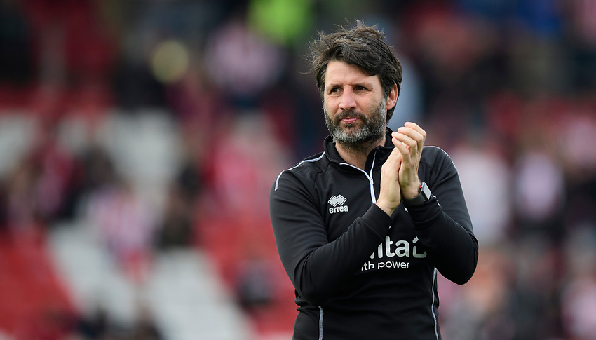 Lincoln City manager Danny Cowley<br /> <br /> Photographer Chris Vaughan/CameraSport<br /> <br /> The EFL Sky Bet League Two - Lincoln City v Macclesfield Town - Saturday 30th March 2019 - Sincil Bank - Lincoln<br /> <br /> World Copyright © 2019 CameraSport. All rights reserved. 43 Linden Ave. Countesthorpe. Leicester. England. LE8 5PG - Tel: +44 (0) 116 277 4147 - admin@camerasport.com - www.camerasport.com