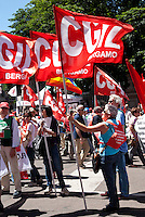 - Milano, manifestazione nazionale in difesa della Costituzione indetta da Cgil, Acli, Anpi, Arci.....- Milan, demonstration to defence Constitution organized by labour unions and associations