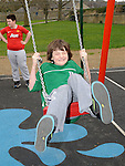 Adam O'Reilly pictured at the opening of the new playground in Dunleer. Photo: Colin Bell/pressphotos.ie