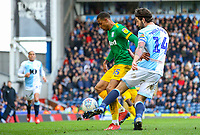 Preston North End's Lukas Nmecha holds off the challenge from Blackburn Rovers' Charlie Mulgrew<br /> <br /> Photographer Alex Dodd/CameraSport<br /> <br /> The EFL Sky Bet Championship - Blackburn Rovers v Preston North End - Saturday 9th March 2019 - Ewood Park - Blackburn<br /> <br /> World Copyright © 2019 CameraSport. All rights reserved. 43 Linden Ave. Countesthorpe. Leicester. England. LE8 5PG - Tel: +44 (0) 116 277 4147 - admin@camerasport.com - www.camerasport.com