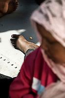 Clandestini provenienti dall'Africa e soccorsi da una motovedetta della Capitaneria di Porto al largo dell'isola di Lampedusa. Illegal immigrants rescue by Italian Coast Guard.
