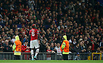 Paul Pogba of Manchester United leaves the pitch injured during the Champions League Group A match at the Old Trafford Stadium, Manchester. Picture date: September 12th 2017. Picture credit should read: Andrew Yates/Sportimage
